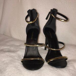 Bebe Black&Gold High Heels